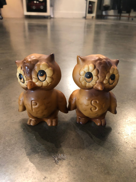 Japanese Owls Salt & Pepper Shakers