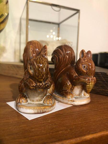 Ceramic Squirrels Salt & Pepper Shakers