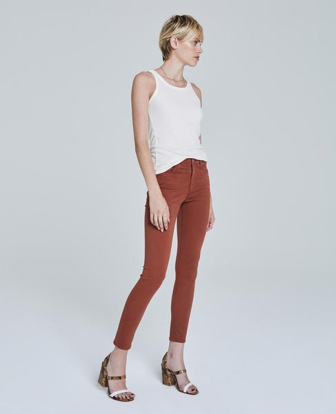Farrah jeans in burnt orange