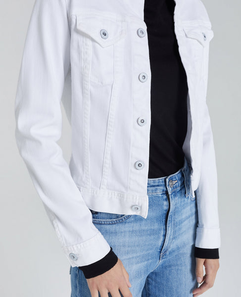 white denim jacket by AG jeans