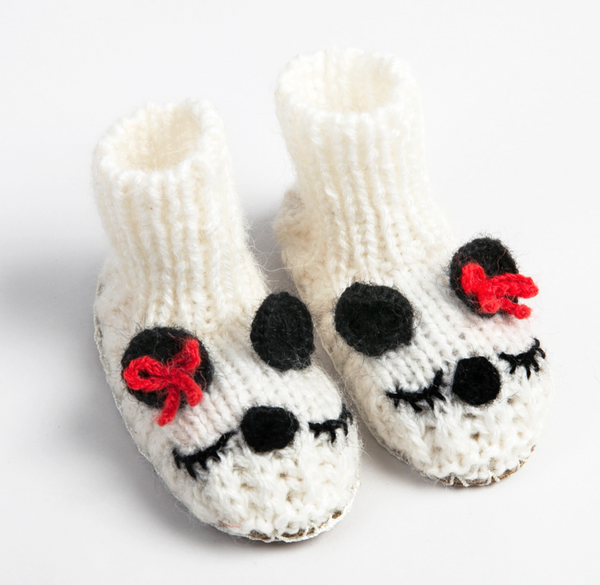 Panda Baby Slipper Booties
