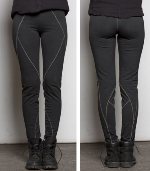 Contrast Stitch Legging