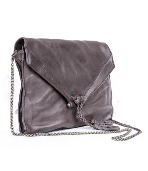 Grey Envelope Crossbody Purse