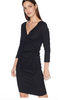 Three Quarter Sleeve Wrap Dress
