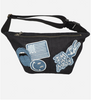 Denim Multi-Patch Fanny Pack