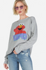 Drop Shoulder Distressed Elmo