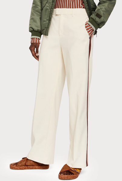 Wide Leg Pants w/ Contrast Stripe