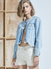Eighties style cropped denim jacket