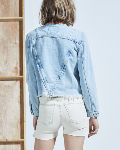 Marfa cropped denim jacket