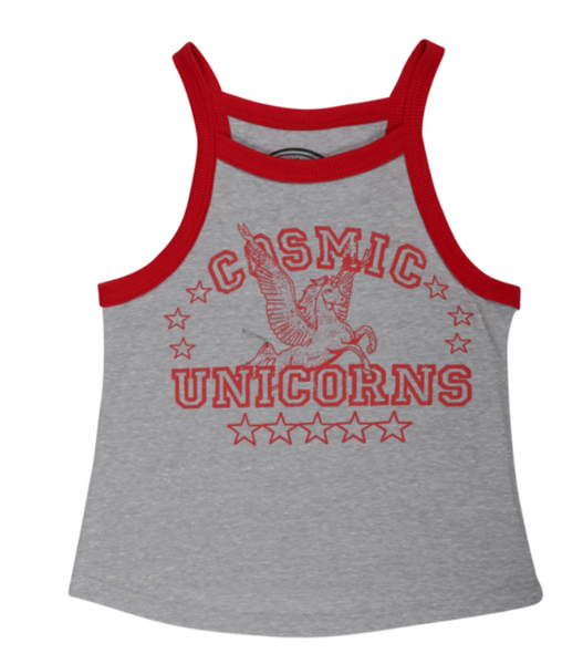 Kids tank with unicorn