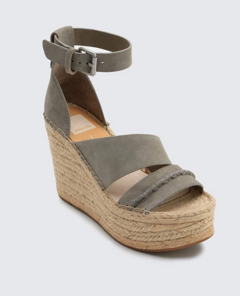 Smoke Suede Simi Wedge