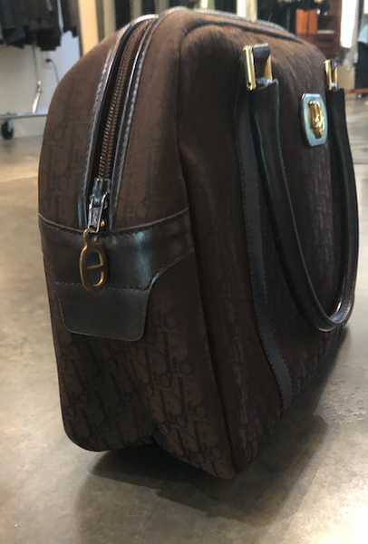 Brown vintage Dior logo bag