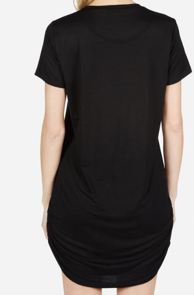 black t-shirt dress by Lauren Moshi