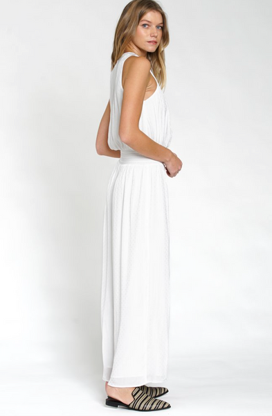 smocked white jumpsuit