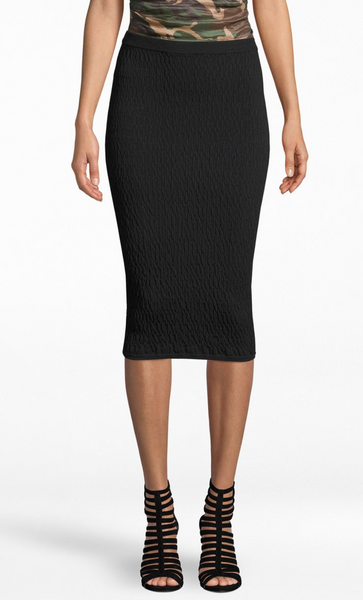 Textured Pencil Skirt