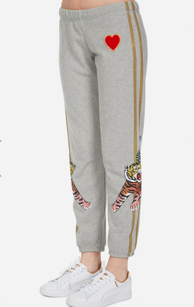 Lauren Moshi sweatpants with tiger