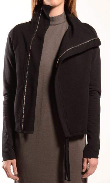 Cropped A-Line Zip Jacket