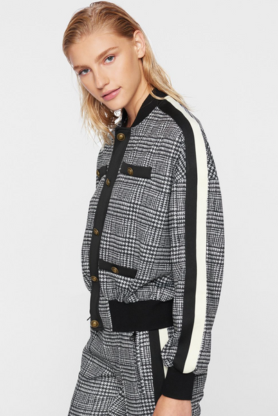Houndstooth track jacket by Pam and Gela