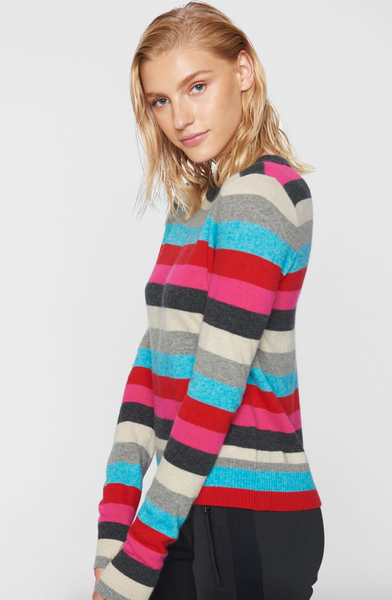 Pink & Blue Striped Pullover