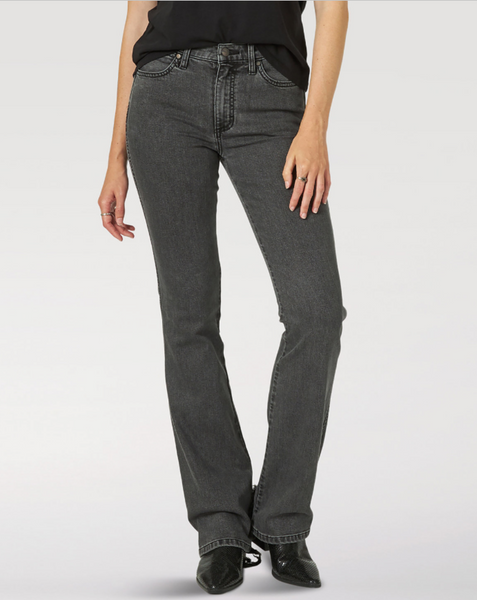 Black bootcut jeans by Wrangler
