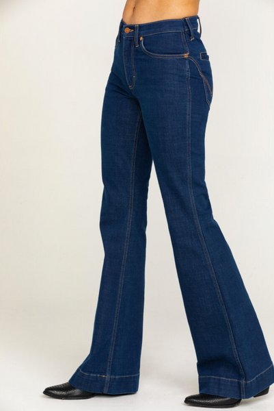 high rise bell bottoms by Wrangler