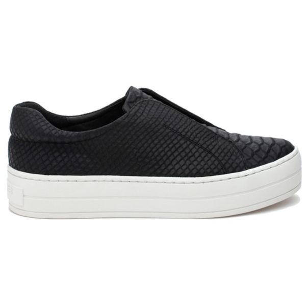 Platform Black Snake Slip On Sneakers