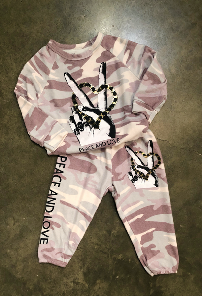 Lauren Moshi Kids Peace and Love sweats