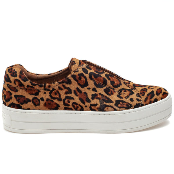 Platform Leopard Slip On Sneakers