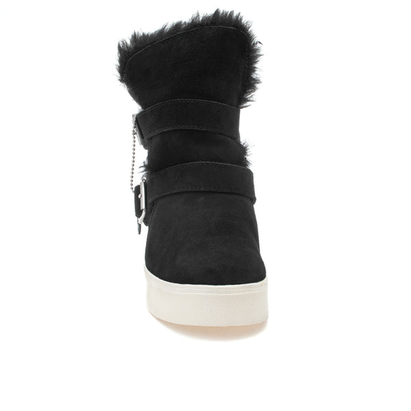 waterproof booties with faux fur lining