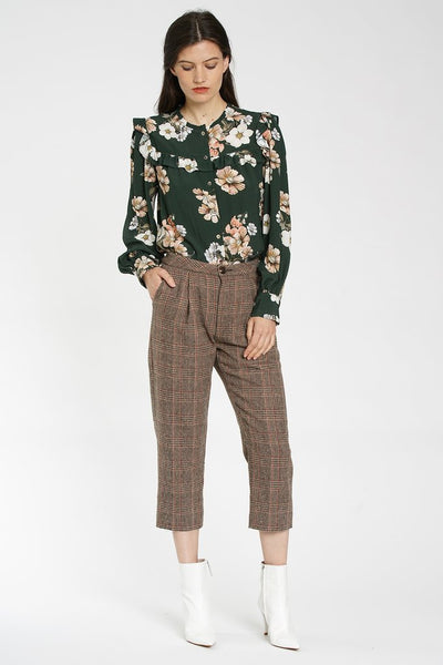 Cropped Plaid Colleen Pant