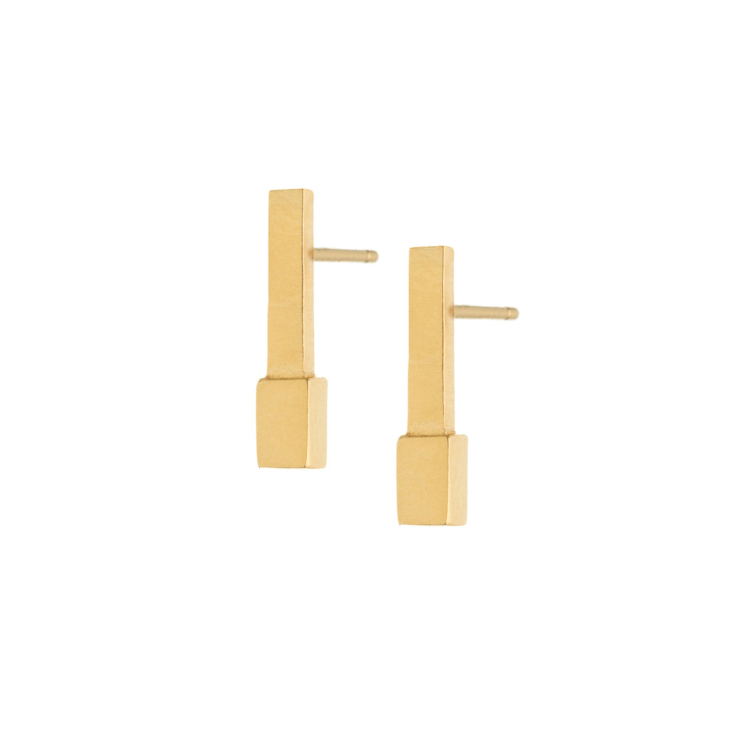 small gold bar earrings