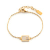 Cate Bracelet - Tan with Rainbow Moonstone