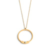 long gold circle necklace