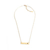 Milo Horizontal Necklace - Black Spinel