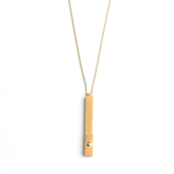 long gold bar necklace