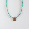 Turquoise Cross Medallion Necklace
