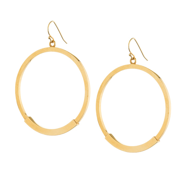 drop hoop earrings