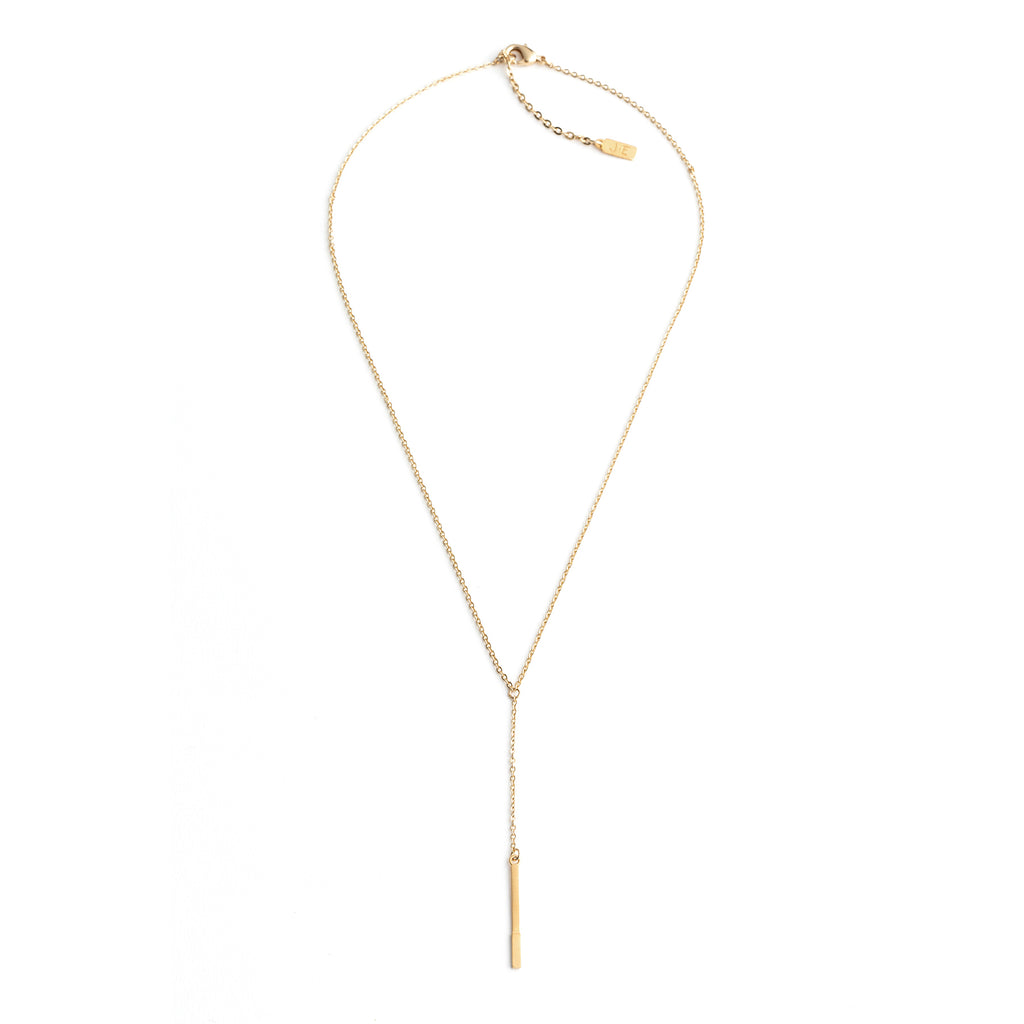 Skinny Bar Drop Necklace