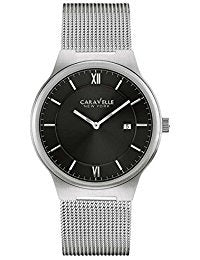 Caravelle Men's Watch Silver Tone