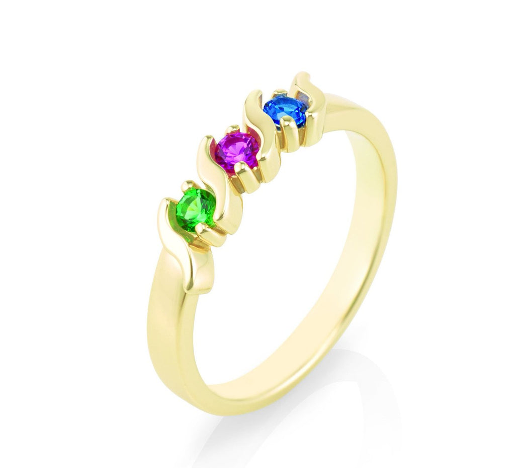 Mothers ring customized with your birthstones sheridans fine mothers ring customized with your birthstones aloadofball Image collections
