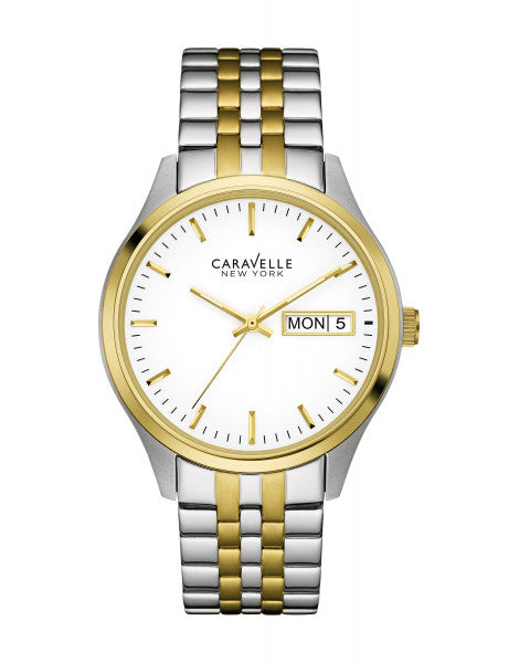Caravelle Gold Tone Classic Men's Watch