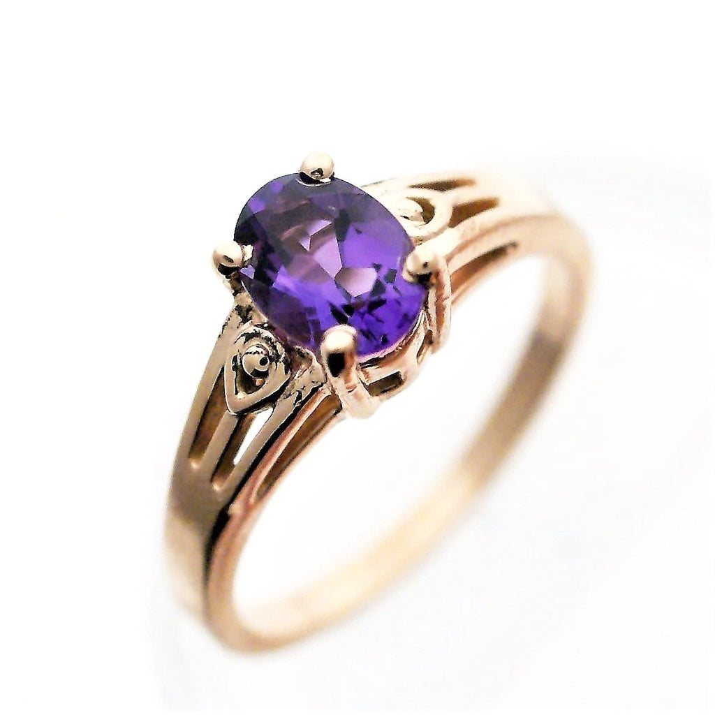 products ring rings amethyst gold rose