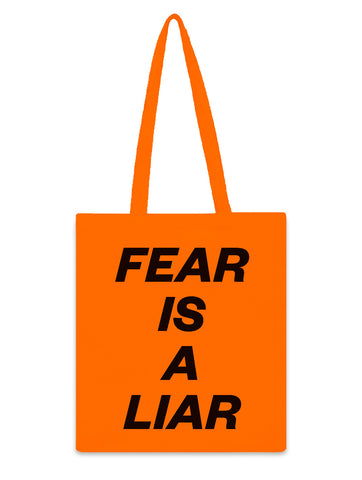 """FEAR IS A LIAR"" Tote Bag"