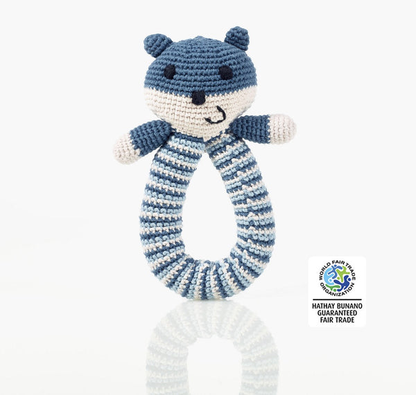 Pebble Organic Bear Rattle