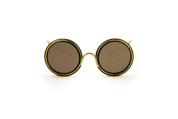 Wires Glasses Black 360° Brass