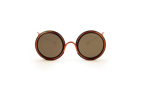 Wires Glasses Black 360° Copper