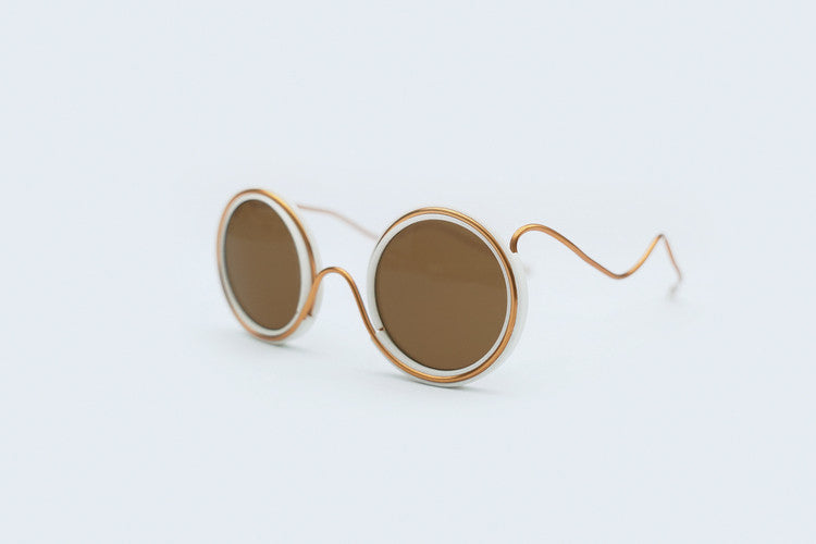 Wires Glasses White 360° Copper