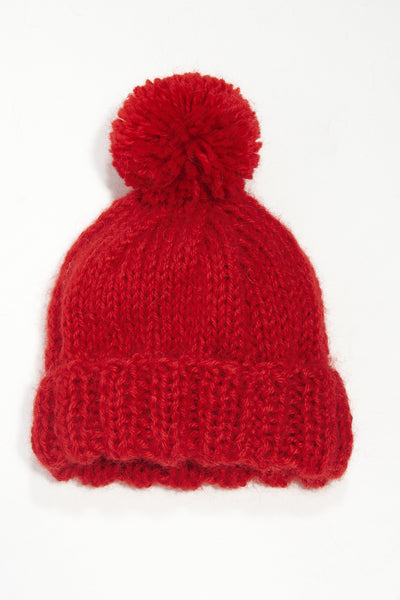 Impossible Wool Bobble Hat
