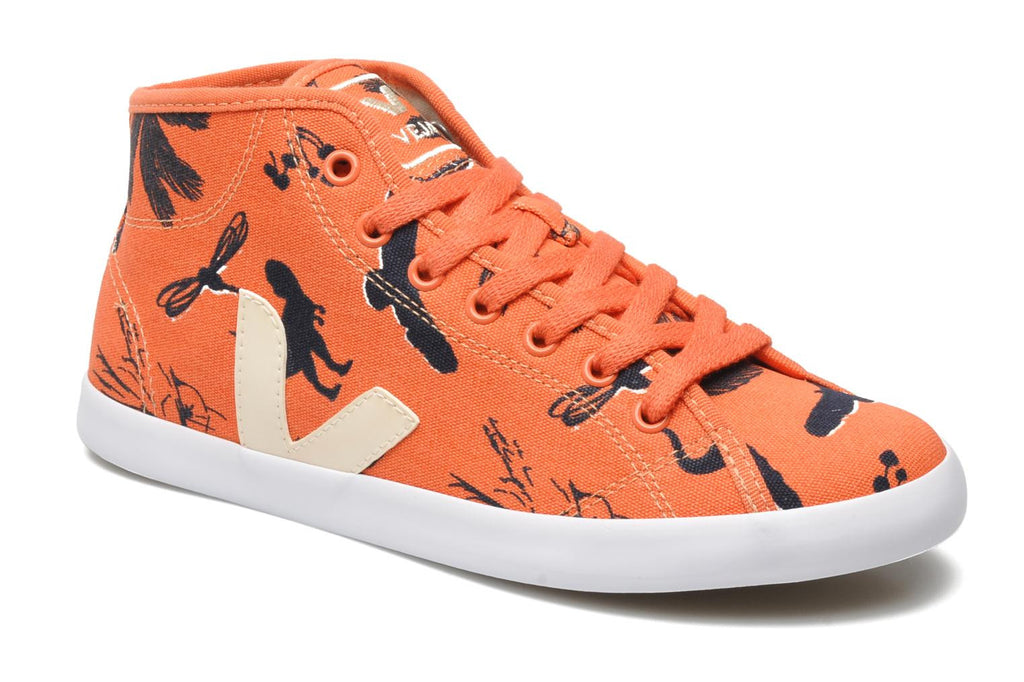 Lily Cole & Veja Trainers in Clementine