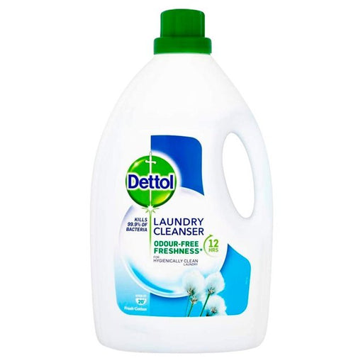 Dettol Laundry Cleanser Odour-Free Fresh Cotton 2.5L